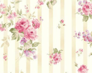 Ellie Ann cotton fabric by Benartex  1232-12 Rose Stripe