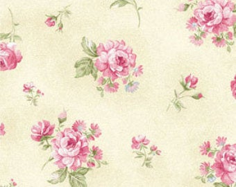 Ellie Ann by Eleanor Burns for Benartex Cotton Fabric Pink Rose 1234 12