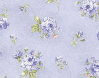 Ellie Ann by Eleanor Burns for Benartex Cotton Fabric Blue Petit Rose 1234 50