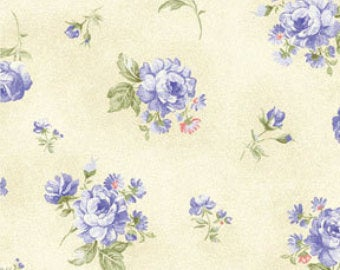 Ellie Ann by Eleanor Burns for Benartex Cotton Fabric Blue Petit Rose 1234 52