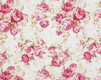 Kilala Antique Roses 201205-11A cotton Fabric Roses on Cream