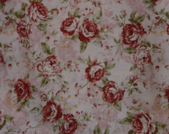 Kilala Antique Roses 201205-12A cotton Fabric Roses