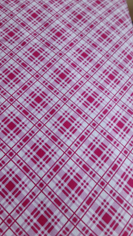 Sausalito Cottage  cotton fabric by Lakehouse Dry  lh13062raspberry  Plaid