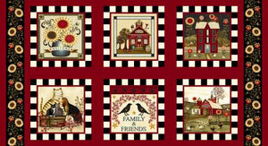 Count Your Blessings cotton fabric by Henry Glass   2346-88 Novelty Blocks  Panel