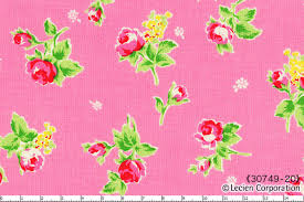 Flower Sugar cotton fabric by Lecien 30749-20 Roses on Pink