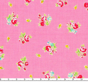Flower Sugar cotton fabric by Lecien 30750-20 Roses on Pink