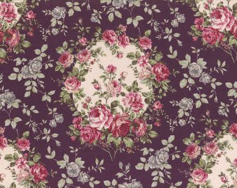 Josephine Rose cotton fabric by Lecien 30880-- reserved