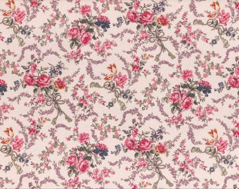 Josephine Rose cotton fabric by Lecien 30881-10