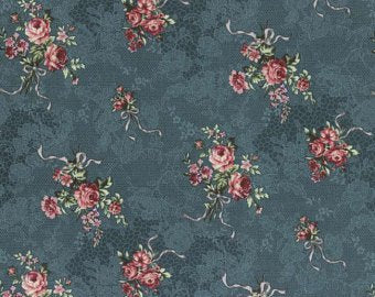 Josephine Rose cotton fabric by Lecien 30882-70