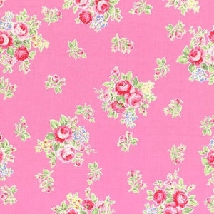 Flower Sugar cotton fabric by Lecien 31027-20 Small Roses on Pink