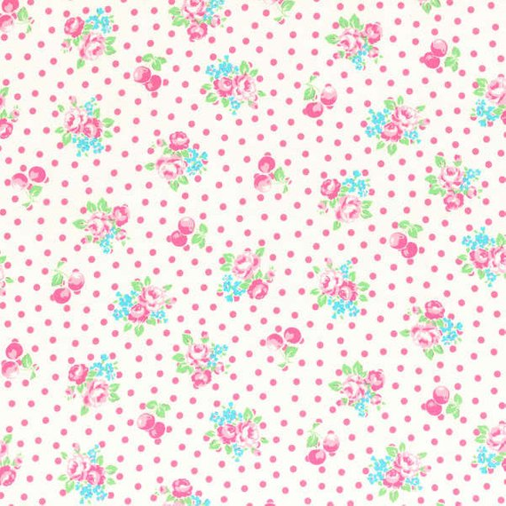 Flower Sugar cotton fabric by Lecien 31028-10