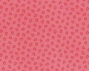 Flower Sugar cotton fabric by Lecien 31132-30 Floral on red