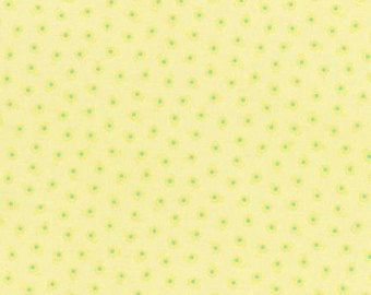 Flower Sugar cotton fabric by Lecien 31132-50 Floral on Yellow