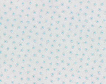 Flower Sugar cotton fabric by Lecien 31132-90 Floral on light Gray