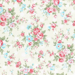 Princess Rose fabric by Lecien 31265-10