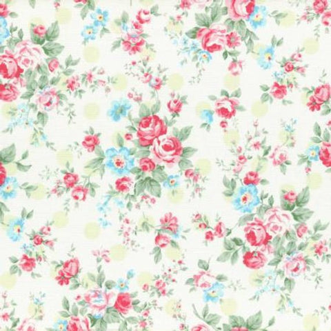 Princess Rose fabric by Lecien 31265-60