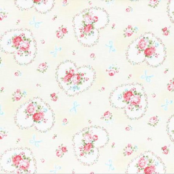 Princess Rose fabric by Lecien 31266-10