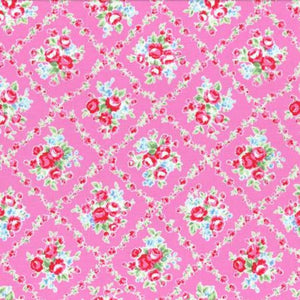 Flower Sugar cotton fabric by Lecien 31269-20 Pink Floral