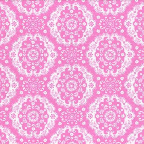 Flower Sugar cotton fabric by Lecien 31272-20 Pink Lace