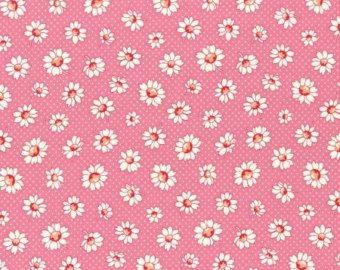 30's Child Smile  cotton retro fabric by Lecien 31281-20 Pink Floral
