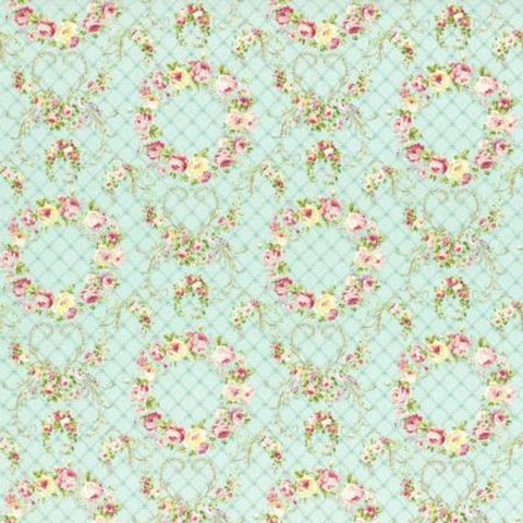 Wreaths of Roses Rococo and Sweet fabric by Lecien 31362-60