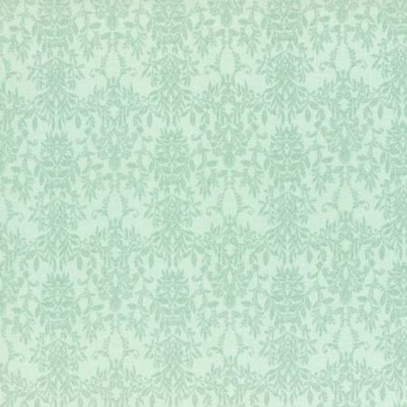 Rococo and Sweet fabric by Lecien 31364-60 Green/Blue