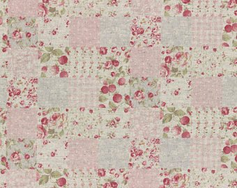 Durham fabric by Lecien 31467-20 Linen/Cotton Pink