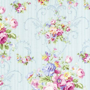 Sky Floral  Rococo & Sweet cotton fabric by Lecien 31860-70