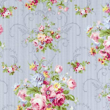 Fog Floral  Rococo & Sweet cotton fabric by Lecien 31860-90