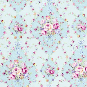 Sky Diamonds Floral  Rococo & Sweet cotton fabric by Lecien 31861-70