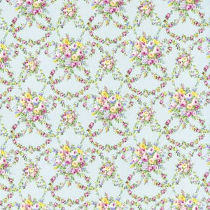 Sky Garlands Floral  Rococo & Sweet cotton fabric by Lecien 31862-70