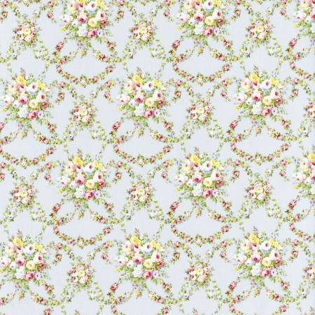 Fog Garlands Floral  Rococo & Sweet cotton fabric by Lecien 31862-90