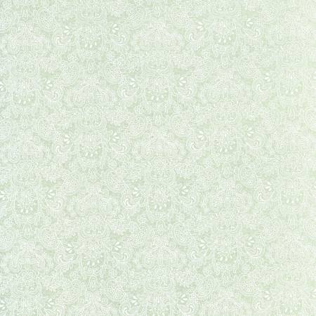 Robins Egg Lace Floral  Rococo & Sweet cotton fabric by Lecien 31864-60