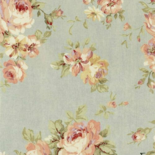 Durham Quilt Collection 2019 cotton fabric by Lecien 31926-71 Roses on Blue