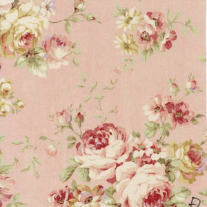 Durham Quilt Collection 2019 cotton fabric by Lecien 31926-20 Roses on Pink