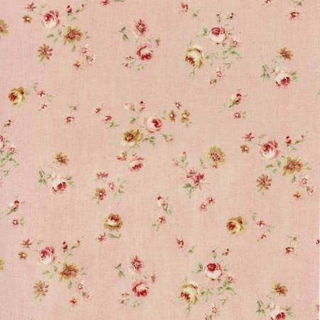 Durham Quilt Collection 2019 cotton fabric by Lecien 31928-20  Small Roses on Pink