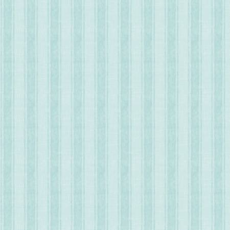 Coastal Wishes By Susan Winget Cotton Fabric Stripes on Blue 39625-441