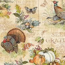 Seeds of Gratitude cotton fabric by Wilmington Prints   39655-278 brown