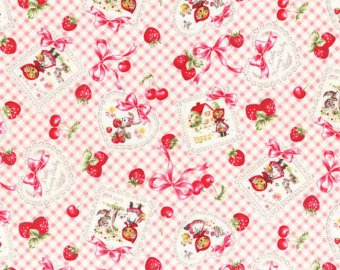 Little Heroine  cotton retro fabric by Lecien 40353-21