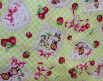 Little Heroine  cotton retro fabric by Lecien 40353-60