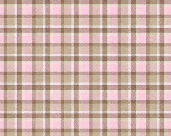 Pink Plaid Outback  cotton fabric by Henry Glass 6196-22