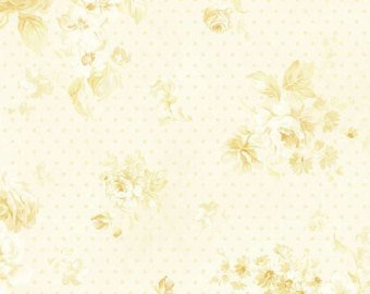 Zoey Christine cotton fabric by Benartex 711-07 Cream