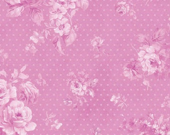 Christine Wild Orchid Morning Dew cotton fabric by Benartex 711-26