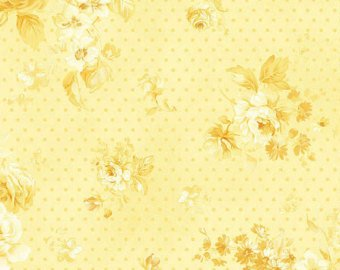 Zoey Christine cotton fabric by Benartex 711-30 Floral Yellow