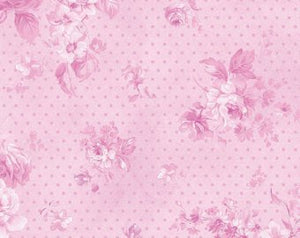 Zoey Christine cotton fabric by Benartex 711-89 Morning Dew Wild Orchid