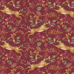 Fables Collection by Laura Ashley for Camelot Fabrics  Cotton Fabric Red Hare 71180401-1