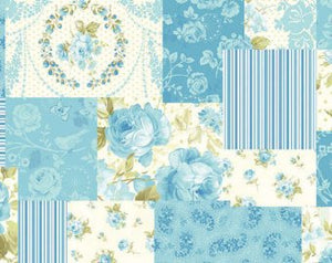 Zoey Christine cotton fabric by Benartex 714-55 Patchwork of Roses