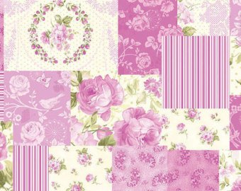 Zoey Christine cotton fabric by Benartex 714-89 Pink Patchwork