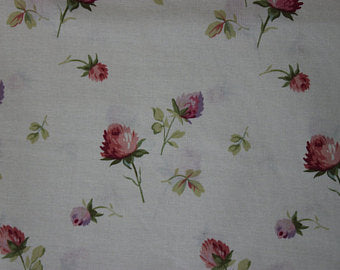 Yuwa cotton fabric  Floral on Ivory 816518A