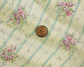 Yuwa cotton fabric blue stripe with roses 816921C